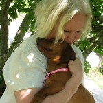 g'bye snuggle with old foster mom Vikki